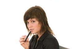 Donna come segretaria fotografia stock