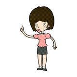 donna comica del fumetto con l'idea Fotografie Stock
