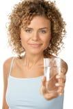 Donna con acqua Fotografia Stock Libera da Diritti