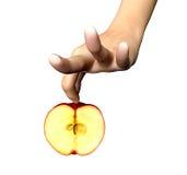 Donna con Apple Immagini Stock