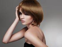 Donna con bei capelli Fotografia Stock Libera da Diritti