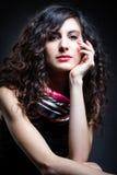 Donna con bei capelli Fotografia Stock