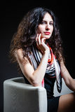 Donna con bei capelli Fotografie Stock Libere da Diritti