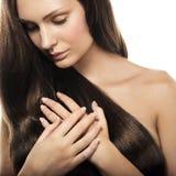 Donna con capelli lunghi fotografia stock