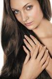 Donna con capelli lunghi immagini stock libere da diritti