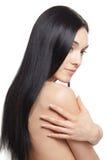Donna con capelli lunghi Fotografia Stock Libera da Diritti