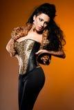 Donna con capelli lunghi Immagine Stock Libera da Diritti
