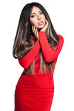 Donna con capelli lunghi Fotografie Stock Libere da Diritti