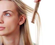 Donna con capelli lunghi Immagini Stock