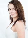 Donna con capelli marroni Fotografie Stock Libere da Diritti