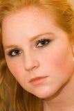 Donna con capelli rossi Fotografia Stock