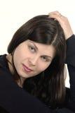 Donna con capelli scuri Immagine Stock Libera da Diritti