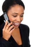 Donna con cellulare Fotografie Stock Libere da Diritti