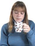 Donna con coffee#2 Fotografie Stock Libere da Diritti
