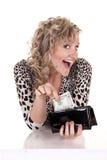 Donna con contanti Fotografie Stock