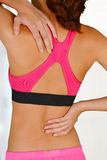 Donna con dolore alla schiena Fotografie Stock Libere da Diritti