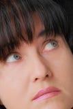 Donna con gli occhi azzurri Immagini Stock Libere da Diritti
