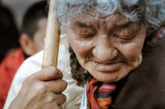 Donna con gli occhi chiusi nel Bihar Immagini Stock