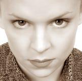 Donna con gli occhi intensi Fotografie Stock
