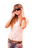 Donna con gli occhiali da sole immagine stock libera da diritti