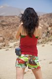 Donna con gli shorts Immagine Stock Libera da Diritti