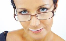 Donna con i baffi immagini stock libere da diritti