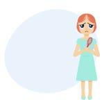 Donna con i capelli retrocedere illustrazione di stock