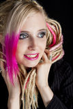 Donna con i dreadlocks Fotografia Stock