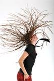 Donna con i dreadlocks Fotografia Stock Libera da Diritti