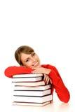 Donna con i libri Immagine Stock Libera da Diritti