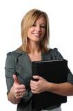 Donna con i pollici in su Immagine Stock Libera da Diritti
