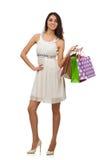 Donna con i sacchetti di acquisto Immagine Stock