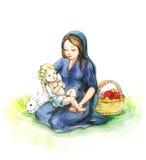 Donna con il bambino Immagini Stock Libere da Diritti
