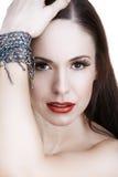 Donna con il braccialetto Immagine Stock Libera da Diritti
