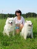 Donna con il cane Immagine Stock Libera da Diritti
