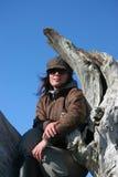 Donna con il cappello Immagine Stock Libera da Diritti