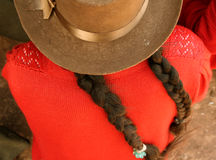 Donna con il cappello, Sudamerica Fotografie Stock Libere da Diritti