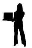 Donna con il computer portatile illustrazione di stock