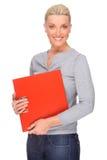 Donna con il dispositivo di piegatura Immagine Stock Libera da Diritti