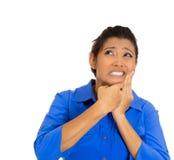 Donna con il dolore del dente immagini stock libere da diritti