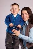 Donna con il figlio immagine stock