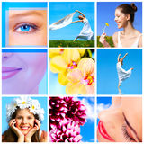 Donna con il fiore Fotografie Stock
