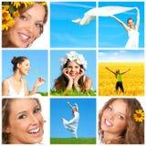 Donna con il fiore Fotografia Stock Libera da Diritti