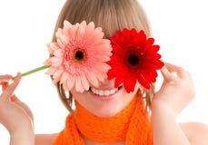 Donna con il fiore Immagine Stock Libera da Diritti