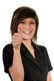 Donna con il gesto Fotografie Stock Libere da Diritti