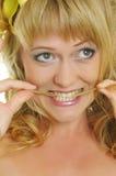 Donna con il giglio Fotografie Stock Libere da Diritti