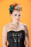 Donna con il leggero Grin Fotografie Stock Libere da Diritti