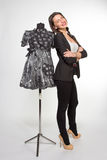 Donna con il mannequin Fotografia Stock