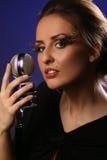 Donna con il mic Fotografie Stock