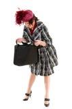 Donna con il sacchetto Fotografia Stock